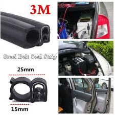 Rubber Steel Belt Weather Seal Strip Accessories For Car Door Boot Bonnet Edge