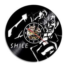 Joker Smile Vinyl Record Wall Clock Take Photo Vintage Home Decor Handmade Gift