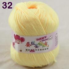 Sale 1ball 50g Baby Cashmere Silk Wool Children hand knitting Yarn 32 Lemon