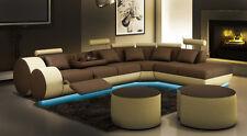 Ecksofa Sofa Couch Polster Wohnlandschaft Leder Eck Sofas Garnitur  sofas Madird
