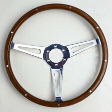 NEW Moto-Lita Style Classic Wood 14 inch Steering Wheel with Momo 6 bolt PCD