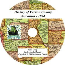 1884 History & Genealogy of VERNON County Wisconsin WI