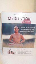 Meditation CD VHS & 50pc Sandalwood Incense NIB soothing Gift Set By Living Arts
