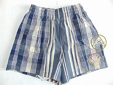 Vintage 80 90 DUBIN Boxer XS 46 Shorts Costume Quadri Beach Pantaloncini Grigio