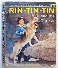RIN TIN TIN Charles Verral ILLUS Mel Crawford Little Golden Book 1st Ed  1957 -G