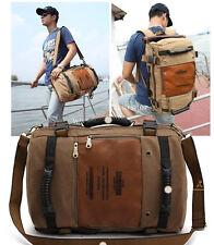 KUAKKO Men Canvas Backpack rucksack school laptop Shoulder Travel Bag M210A