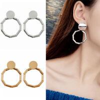 2019 Women Gold Silver Geometric Statement Drop Dangle Earrings Bohemia Jewelry