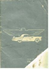FORD THUNDERBIRD (1st GENERATION) ORIG. 1956 OWNERS INSTRUCTION MANUAL (NL TEXT)
