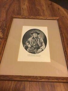 James Bridger Trapper Frontiersman Scout Portrait Man Cave Old West Cowboy Vtg