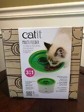 Nib Catit Multi Feeder 3 in 1 Cat Kibble Food Treat Bowl Food Bowl
