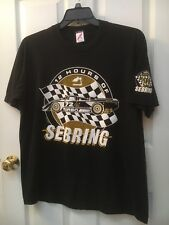 RARE VINTAGE 1991 12 HOURS OF SEBRING BLACK T SHIRT XL BY JERZEES IN USA UNWORN?