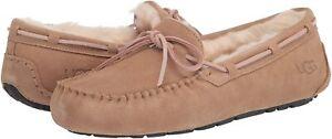 Women's Shoes UGG DAKOTA Suede Indoor/Outdoor Moccasin Slippers 1107949 TOBACCO
