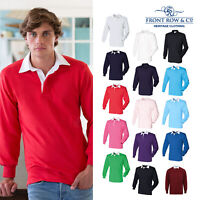 Front Row Long Sleeve Traditional Plain Rugby Shirt (FR100)-Casual Cotton Shirt