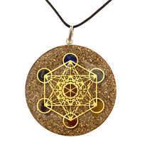 Metatrons Cube 7 Chakra Healing Positive Energy Aura Chakra Balancing Pendant