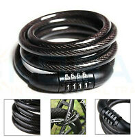 Combination Number Code Bike Bicycle Cycle Lock 6mm x 1000mm Steel Cable Chain