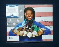Simone Biles Olympic Medals Signed 8x10 Photo Beckett BAS Authenticated COA Auto