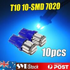 7020SMD T10 Wedge Bulb 10LED Car Side License Plate Parking Tail Light Blue x 10