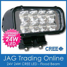 24W CREE LED 24V FLOOD BEAM WORK LAMP - Driving/Offroad/Truck/4X4/Caravan Light
