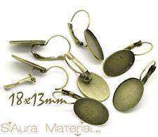 6x Brosires couleurs bronze pour 13 x 18 mm Cabochons Camée DIY Bricolage Bijoux