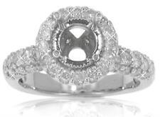 2.00 ct Ladies Round Cut Diamond Semi Mounting Ring In Platinum