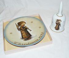 Hummel Christmas 72 Schmid Angel Flute Collector Plate & Bell set, Ooak on ebay
