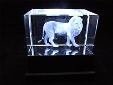 Láser de cristal de vidrio sólido bloque y caja de luz blanca permanente de León.