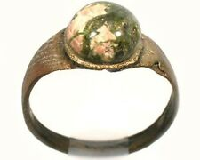 AD300 Roman Carthage (Tunisia) Sz5½ Ring + 19thC Antique 2ct Russian Unakite Gem