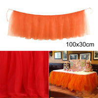 1pc Table Skirt Cover Birthday Banquet Wedding Festive Party Decor Table Cloth