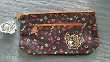 Rare Tokidoki Sephora Brown Bastardino Make Up Canvas Bag Pouch