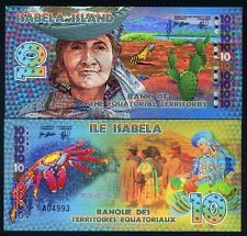 Equatorial Territories, Isabela Island (Galapagos) 10 E Francs POLYMER 2014, UNC