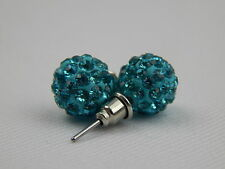 H-Quality SHAMBALLA STUD EARRING CRYSTAL DISCO CLAY BALL (10 MM) * Limited offer