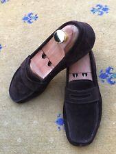 Prada Hombre Zapatos Mocasines De Gamuza Marrón controladores UK 6 nos 7 EU 40