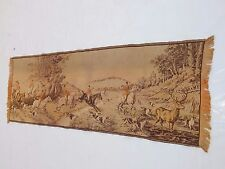 Vintage French Beautiful Hunting Scene Tapestry 140x49cm (T845)