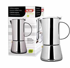 Ibili 620302 Cafetière Induction Express Essential 2 Tasses Inox 18/10