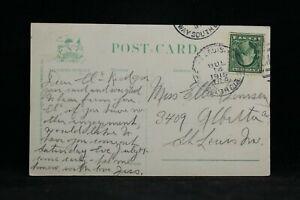 RPO: St. Louis, Mo, B'way South Cir No. 2 1915 Calif Postcard, Missouri Trolley