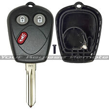 New Remote Head Key Fob Shell Case Housing Buttons Uncut Blade For Saab 9-7X 9-7