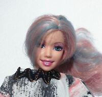 BARBIE DOLL MERMAID, SWIVEL ARMS, BLUE/PINK LONG STREAKED HAIR, 2007 VGC