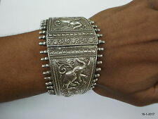 bangle cuff handmade jewellery Traditional design sterling silver bracelet