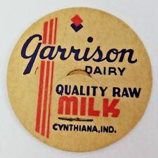 Garrison Dairy, Cynthiana, Indiana Vintage Dairy Milk Bottle Caps Quality Raw