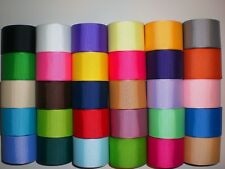 "LOT 30 YARDS GROSGRAIN RIBBON SOLID COLORS 1.5 or 1 1/2"" INCH REF 26"
