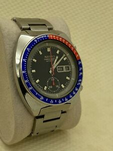 Vintage Seiko Pepsi Pogue 6139-6002 Chronograph Automatic Men's Watch