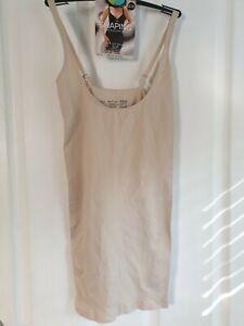 M&S Shaping Seamfree Slip 'Wear Your Own Bra' Medium Control 12-14 Almond