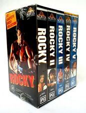 The Complete Rocky Collection 5 VHS Video Box Set-1995 MGM Sylvester Stallone
