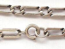 VINTAGE Solido 925 argento Sterling Bracciale delicato marchiato cordolo catena ITALIA