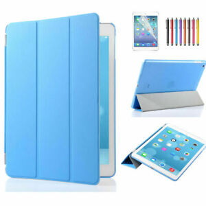 """Ultra Slim Smart Leather Magnetic Case Stand Back Cover for iPad Air 2 9.7"""" Blue"""