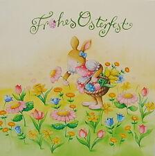 "Nina Chen*Postkarte*14x14""Frohes Osterfest""Osterglocken*Grußkarte*Glitzer*Ostern"