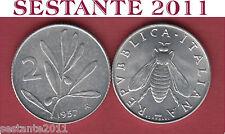 A71  ITALY  ITALIA REPUBBLICA ITALIANA  2 LIRE 1957 Ape Ulivo   KM 94  FDC / UNC
