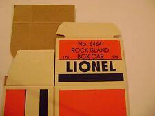 Lionel 6464-175 Rock Island Box Car Licensed Reproduction Box