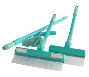 Aqua Blade Window Squeegee Washer Full Set 22cm+30cm blades & Pre-washer no drip