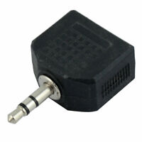 3.5mm Male to Dual 3.5mm Female Stereo Audio Y Shaped Adapter Coupler